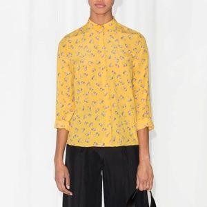 & Other Stories Floral Buttondown Shirt 6